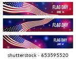 flag day. 14 june. | Shutterstock .eps vector #653595520