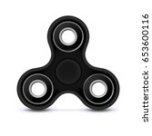 fidget finger toy. black color... | Shutterstock .eps vector #653600116