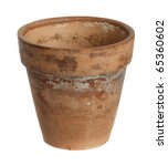 Flowerpot On A White Background.