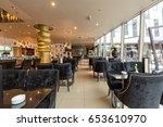 hotel lobby cafe interior | Shutterstock . vector #653610970
