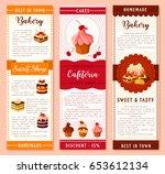 cake  bakery and pastry dessert ... | Shutterstock .eps vector #653612134