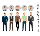 handsome men dressed in... | Shutterstock .eps vector #653616106