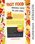 fast food or street food poster.... | Shutterstock .eps vector #653616256