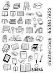 books doodles | Shutterstock .eps vector #653617633
