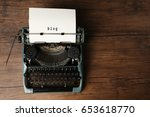 sheet of paper with word blog... | Shutterstock . vector #653618770