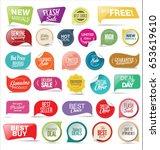 retro vintage premium quality... | Shutterstock .eps vector #653619610