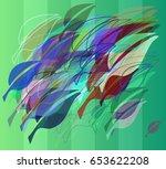 leaf idea pattern | Shutterstock .eps vector #653622208