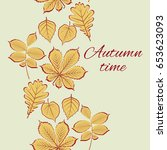 autumn vector illustration.... | Shutterstock .eps vector #653623093