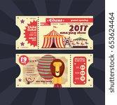 circus magic show ticket vector ... | Shutterstock .eps vector #653624464