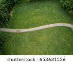 aerial view of footpath in... | Shutterstock . vector #653631526