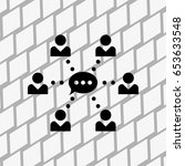network vector icon