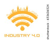 industry 4.0 concept business... | Shutterstock .eps vector #653636524