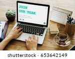 job career hiring recruitment... | Shutterstock . vector #653642149