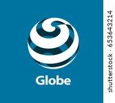 vector logo globe | Shutterstock .eps vector #653643214
