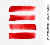 acrylic art brush painted... | Shutterstock .eps vector #653644390