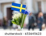 Paper Flag Of Sweden And...