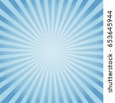 abstract soft blue rays...   Shutterstock .eps vector #653645944
