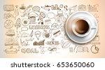 infograph background template... | Shutterstock .eps vector #653650060