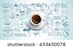 infograph background template... | Shutterstock .eps vector #653650078