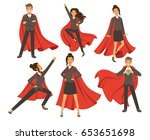 businesswoman in action poses.... | Shutterstock .eps vector #653651698