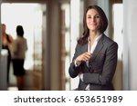candid portrait of a joyful... | Shutterstock . vector #653651989
