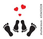 feet symbolizing the occupation ... | Shutterstock .eps vector #653652028