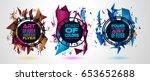 futuristic frame art design... | Shutterstock .eps vector #653652688