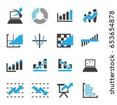 graph icon vector for business... | Shutterstock .eps vector #653654878