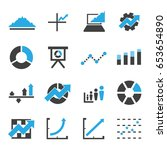 graph icon vector for business... | Shutterstock .eps vector #653654890