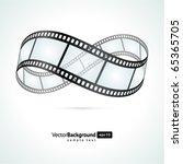 film strip infinity vector... | Shutterstock .eps vector #65365705