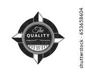 vector vintage black monochrome ...   Shutterstock .eps vector #653658604