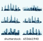 collection of most popular... | Shutterstock .eps vector #653661940