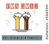 pub quiz concept poster with... | Shutterstock .eps vector #653665444