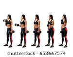 stages of exercise with... | Shutterstock . vector #653667574
