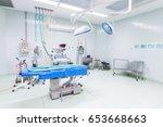 empty operating room no people... | Shutterstock . vector #653668663