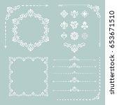 vintage set of vector... | Shutterstock .eps vector #653671510