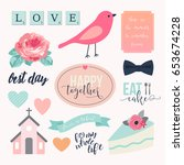 love stickers. signs  symbols ...   Shutterstock .eps vector #653674228