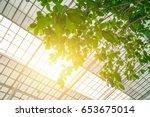 green eco building concept.... | Shutterstock . vector #653675014