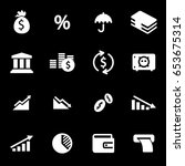 vector white economic icons set ... | Shutterstock .eps vector #653675314