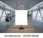 blank mock up banner poster... | Shutterstock . vector #653678668