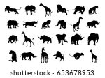 an african safari animal... | Shutterstock .eps vector #653678953