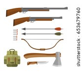 set of hunting equipment and...