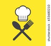 chef   cook   cooking ... | Shutterstock .eps vector #653680210