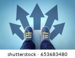 taking decisions for the future ... | Shutterstock . vector #653683480