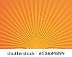 abstract yellow orange radial... | Shutterstock .eps vector #653684899