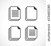 web document vector icon set on ... | Shutterstock .eps vector #653685280