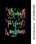 strength made perfect in... | Shutterstock .eps vector #653686480