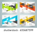 brochure design template cover  ... | Shutterstock .eps vector #653687599