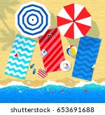 vector top view illustration of ... | Shutterstock .eps vector #653691688