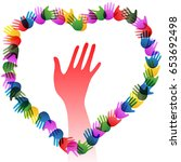 hands holding forming heart | Shutterstock .eps vector #653692498